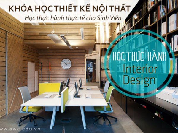 khóa học thiết kế nội thất học thực hành